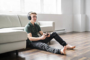Young boy in need of video game addiction treatment